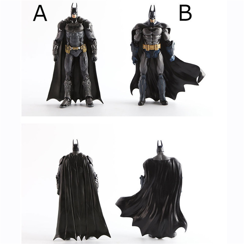 1pc/lot The Dark Knight Batman Superhero Action Figures Toys Batman Figures 7 Styles Robot Classic Collection Toys For Kids 18cm 7 pcs set with original package transformation robot cars and prime toys action figures classic toys for kids christmas gifts