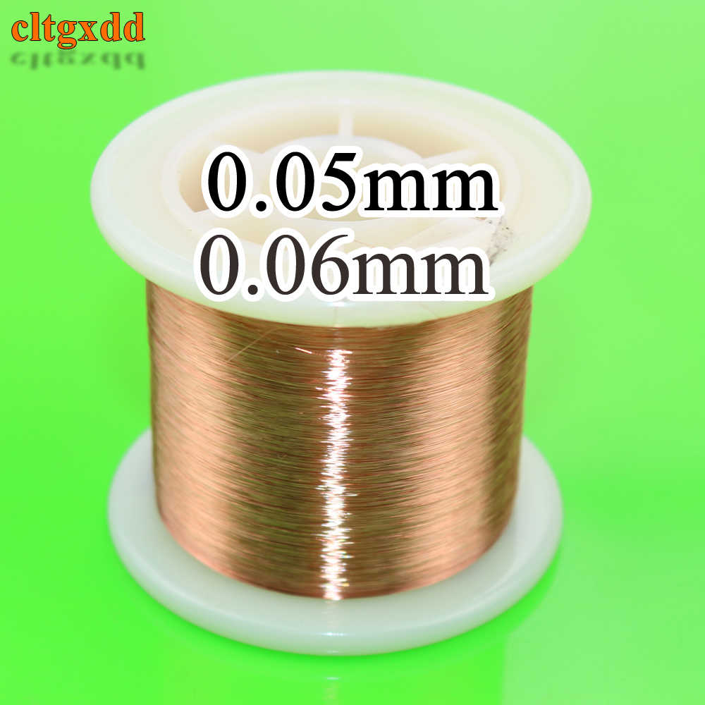 cltgxdd 0.05mm 0.06mm 2000m Copper Wire Polyurethane Enameled Wire Qa-1-155 0.05 0.06 Mm X 2000 Meters/pc