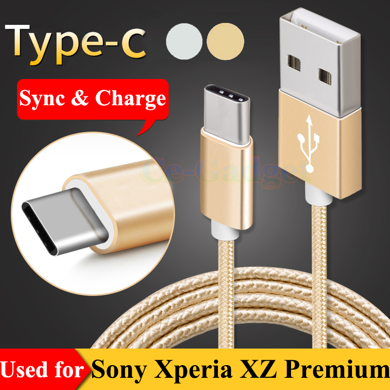 3FT USB Type C Data Sync & Fast Charge Cable for Sony Xperia XZs G8231 G8232 , XZ Premium G8141 G8142 , L1 G3311  L1 Dual G3312