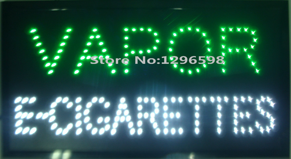 2017 Hot sale custom neon signs led neon vapor e-cigarettes sign eye-catching slogans board indoor size 19x10