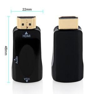 HDMI в VGA адаптер 1080P HDMI папа в VGA Женский конвертер высокого качества HDMI адаптер с аудиокабелем для ПК HDTV черный/белый