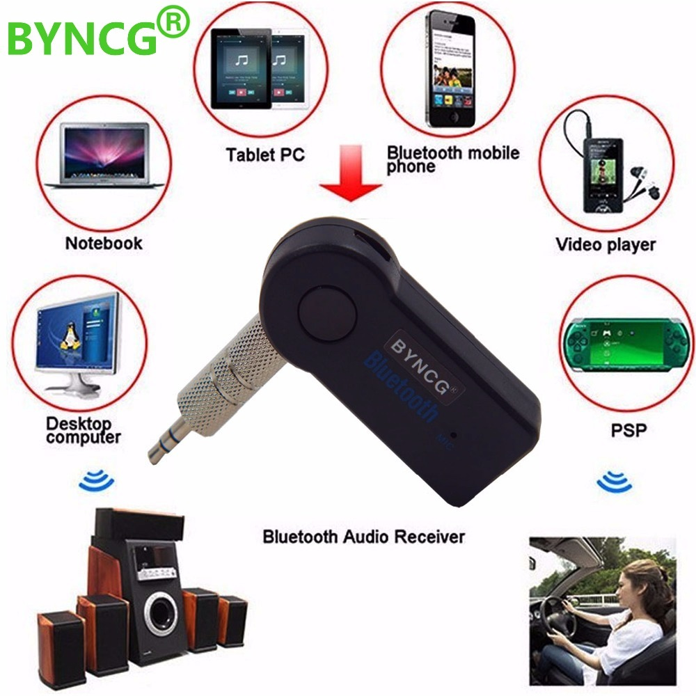 Universal 3.5mm Streaming Car A2DP Wireless Bluetooth Car Kit AUX Audio Music Receiver Adapter