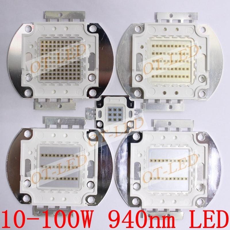 все цены на Freeshipping!High Quality 10W 20W 30W 50W 100W IR 940nm Infrared High Power LED Lamp Light онлайн