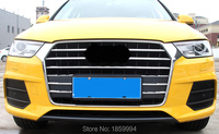 Front Hood Billet Grille Grill Mesth Horizontal Bumper Sticker Style FOR Au Di Q3 2016 2017