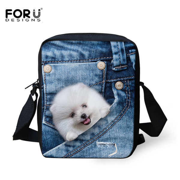 FORUDESIGNS/женская маленькая сумка через плечо с объемным рисунком собаки чихуахуа, модные женские сумки-мессенджеры, сумки через плечо - Цвет: CC1676E