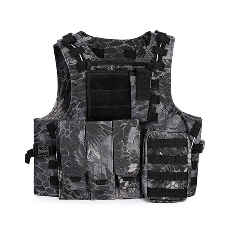 CS Field Combat Camouflage Tactical Vest Men Outdoor Camping Shooting Body Armor Carrier Molle Chest Protection Gear Waistcoat
