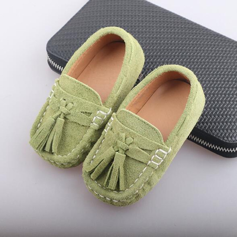 New British Style Loafers Children Baby Single Shoes Toddler Casual Flat Comfortable Boys Genuine Leather Kids Dress Shoes 02