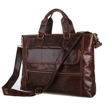 JMD Retro Fashion 100% Real Leather Hand bags For Men Briefcases Shoulder Bags 7212C цена