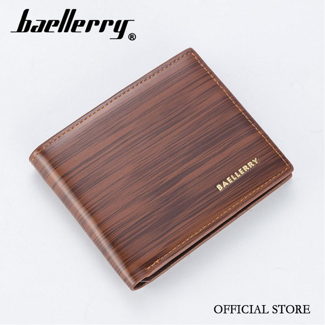 8c89c59352ad original brand Baellerry classical leather bright colors men wallet for  student young man purse