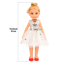 Fashion Newest handmade high quality 12 Inch Doll Chinese Real Doll Cute Toy doll shoes Best DIY Birthday Gift With Box For Girl free shipping big discount rbl 484j diy nude blyth doll birthday gift for girl 4color big eye doll with beautiful hair cute toy