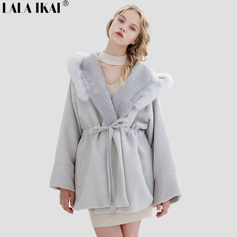 cappotto lana e pelliccia donna