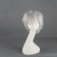 Martinetti Gelo Rise of the Guardians Argento Grigio Breve Cosplay Parrucca