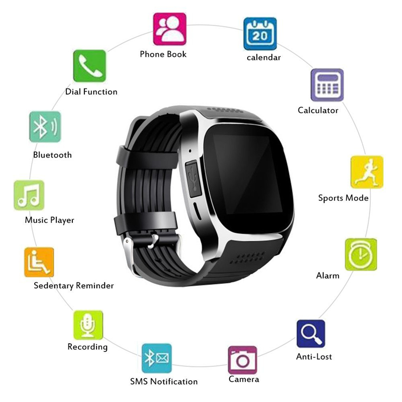 Smart Watches Support SIM &TF Card With Camera Sync Call Message Men Women Smartwatch Bluetooth Watch For Android Smartphone