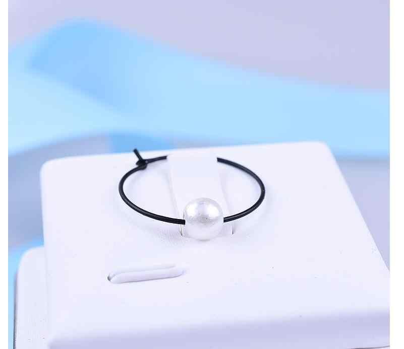 Ea997 Eropa dan Amerika Minimalis Emas Perak Hitam Geometris Lingkaran Telinga Cincin Imitasi Mutiara Anting-Anting Perempuan Pesona Perhiasan