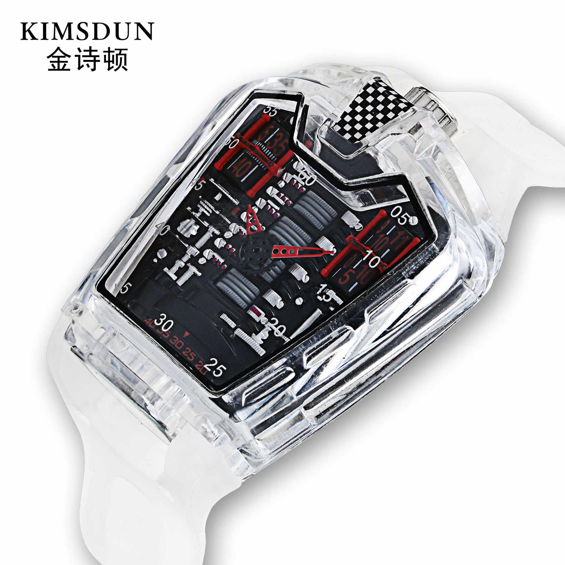 Brand Sports Men Watches Trend Personality Transparent Men's Watch Silicone Belt Waterproof Quartz Watch Relojes Para Hombre