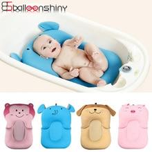 BalleenShiny Baby Badematte Cartoon Nette Weiche Hochwertige rutschfeste Infant Badewanne Duschkopf Neugeborenen Sicherheit Sitz Geschenk