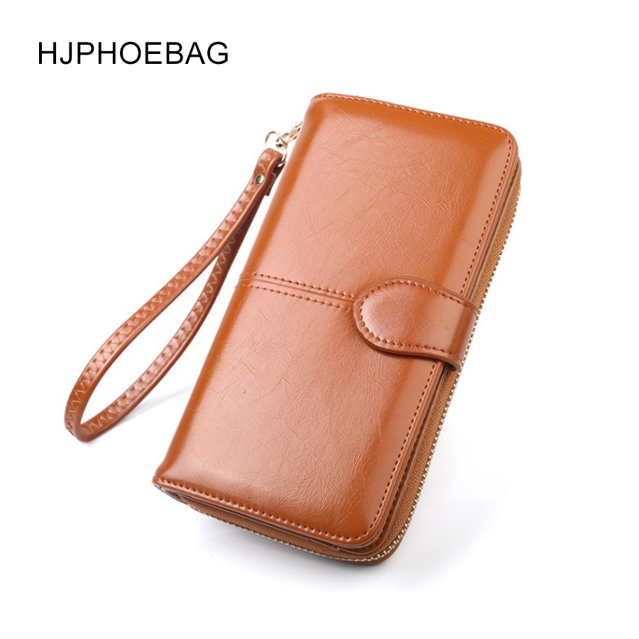 HJPHOEBAG Women Long Clutch Wallet Large Capacity Wallets Female Purse Lady Purses Phone Pocket Card Holder Cartera Mujer YC037