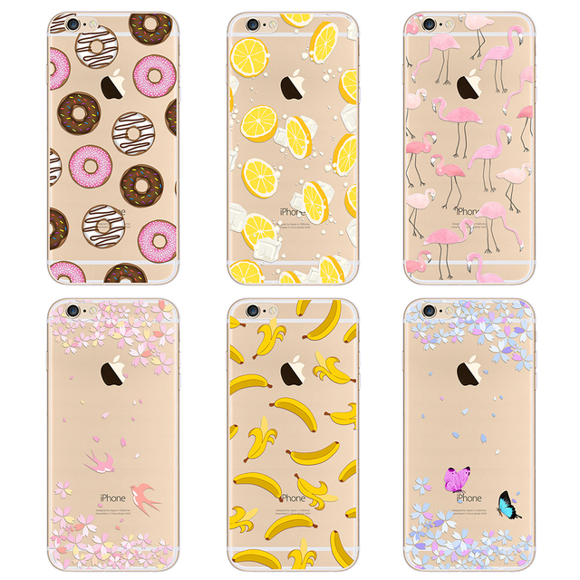 Mobile Phone Case For iPhone 7 Plus 6 6s Plus 5 5s Transparent Ultra-Thin Silicone TPU Case Cover For iPhone 5 5s 6 Plus  PC-001