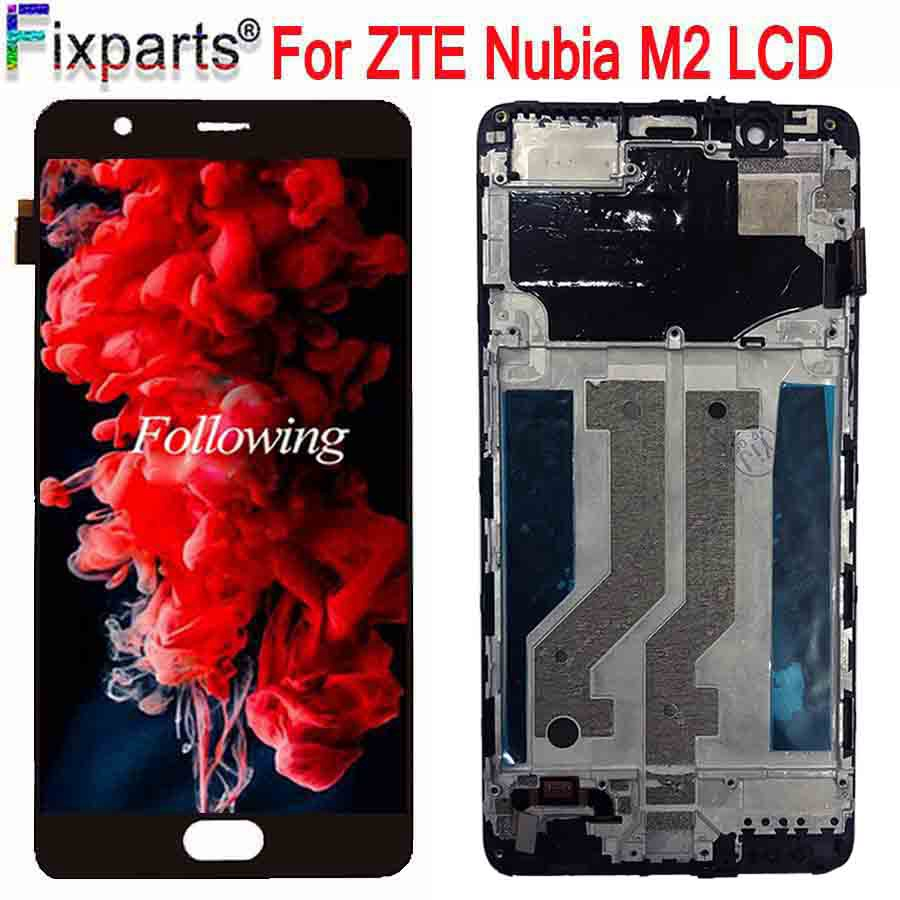 "New Tested 5.5"" For ZTE nubia M2 NX551J LCD Display Touch Screen Digitizer Assembly Replacement Parts For ZTE Nubia M2 LCD(China)"