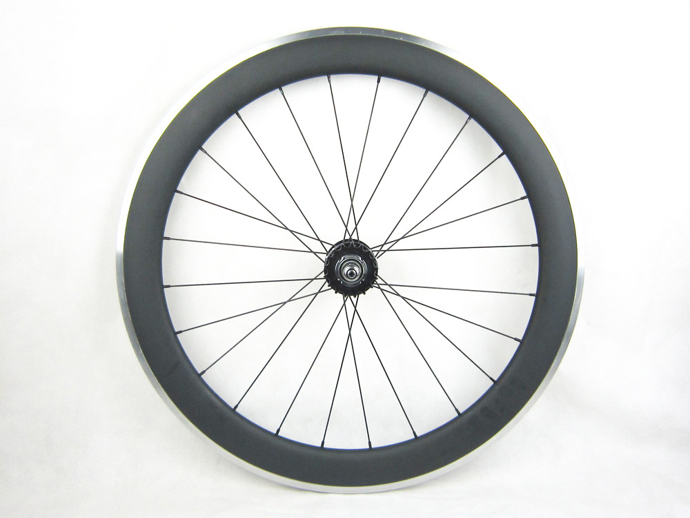 free shipping cost carbon single font b speed b font bike 60mm carbon wheel aluminum braking
