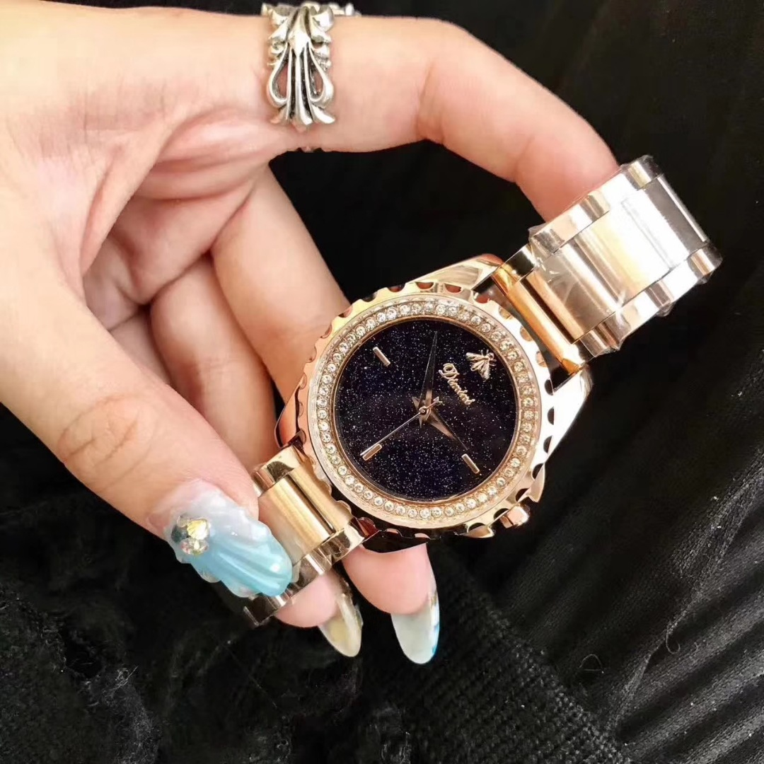Roose Gold Fashion Luxury Women Watches Diamond Lady Watch Quartz Wrist Watch Stainless Steel Ladies Watches Dropshipping Gifts 2016 new fashion women watch women wrist watch quartz watches analog stainless steel bracelet luxury gifts for ladies rose gold
