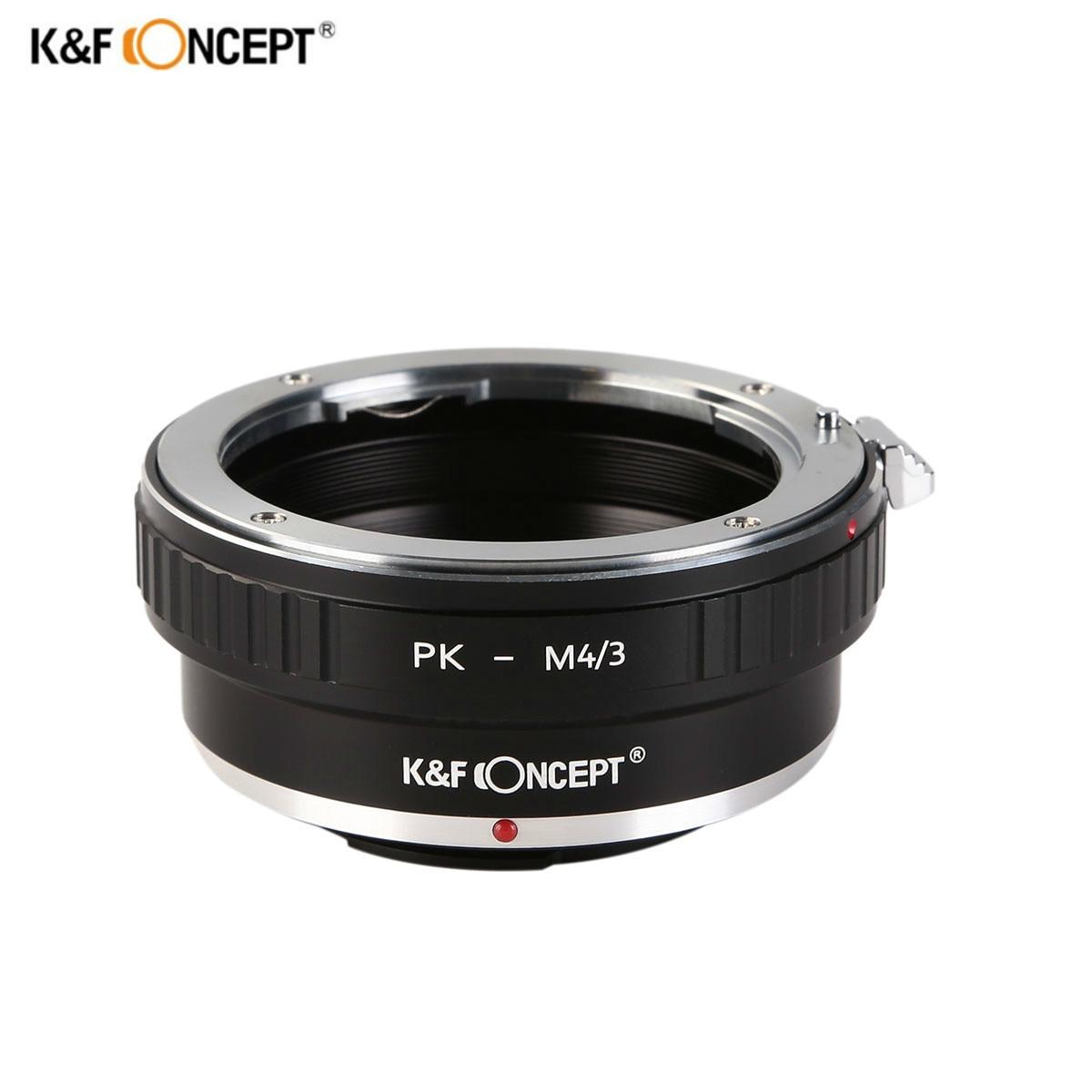 K & F CONCEPT Lens Mount Adapter Ring pour Pentax K PK Lens pour Olympus Panasonic Micro 4/3 M4/ 3 Mount Adapter G10 G3 GF3 GF1