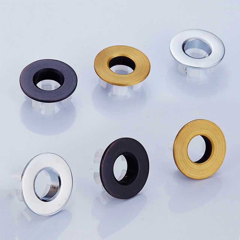 חלקי אגן ברז כיור הצפת כיסוי פליז זהב שש-רגל טבעת אמבטיה מוצר אגן מסודר הכנס החלפה
