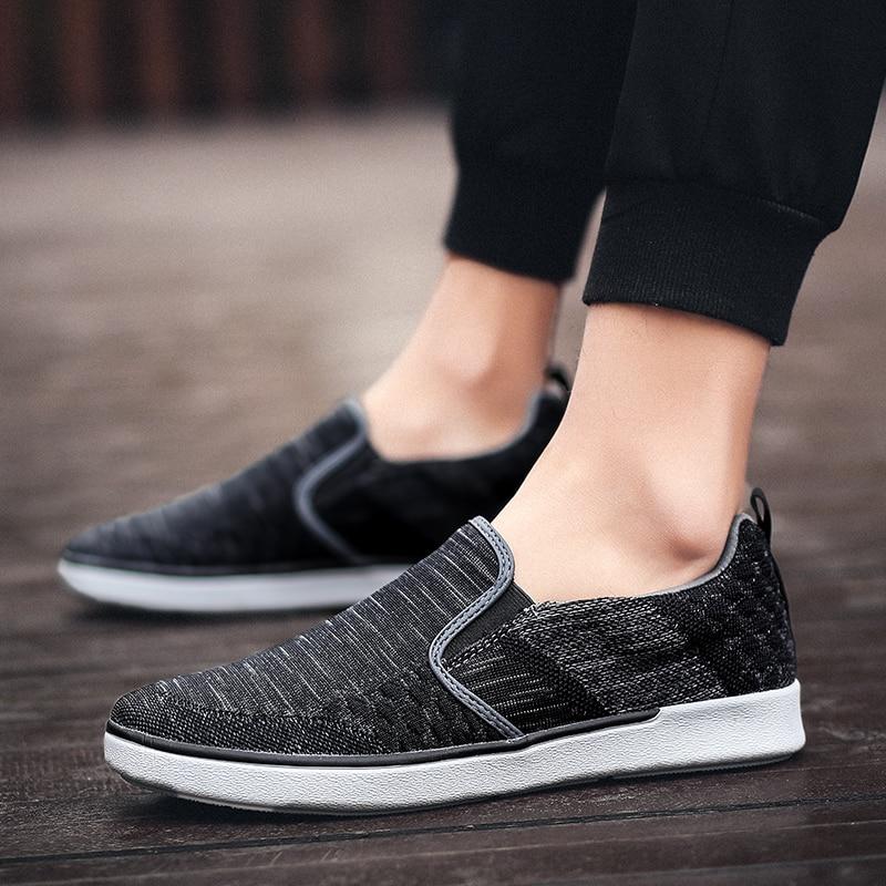 CYYTL Performance Men's Loafers Soft Flyknit Slip-On Walking Shoes Spring Casual Male Sneakers Zapatos de Hombre Erkek Ayakkabi (28)