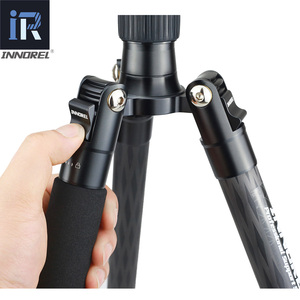 Image 4 - RT55C Professional 10 Layers Carbon Fiber Tripod video travel portable Monopod with ball head for DSLR camera Max Height 161cm