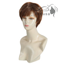 Medusa hair products Synthetic pastel wigs for women Modern pixie cut styles Short straight Mix color