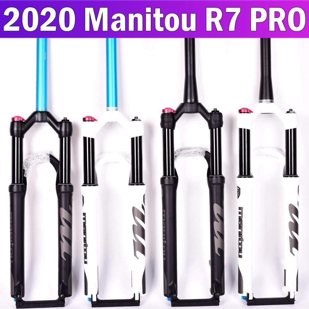 Manitou r7 pro garfo de bicicleta 26 27.5 polegadas montanha mtb garfo da bicicleta ar fosco preto suspensão pk machete comp marvel 2019 1560g