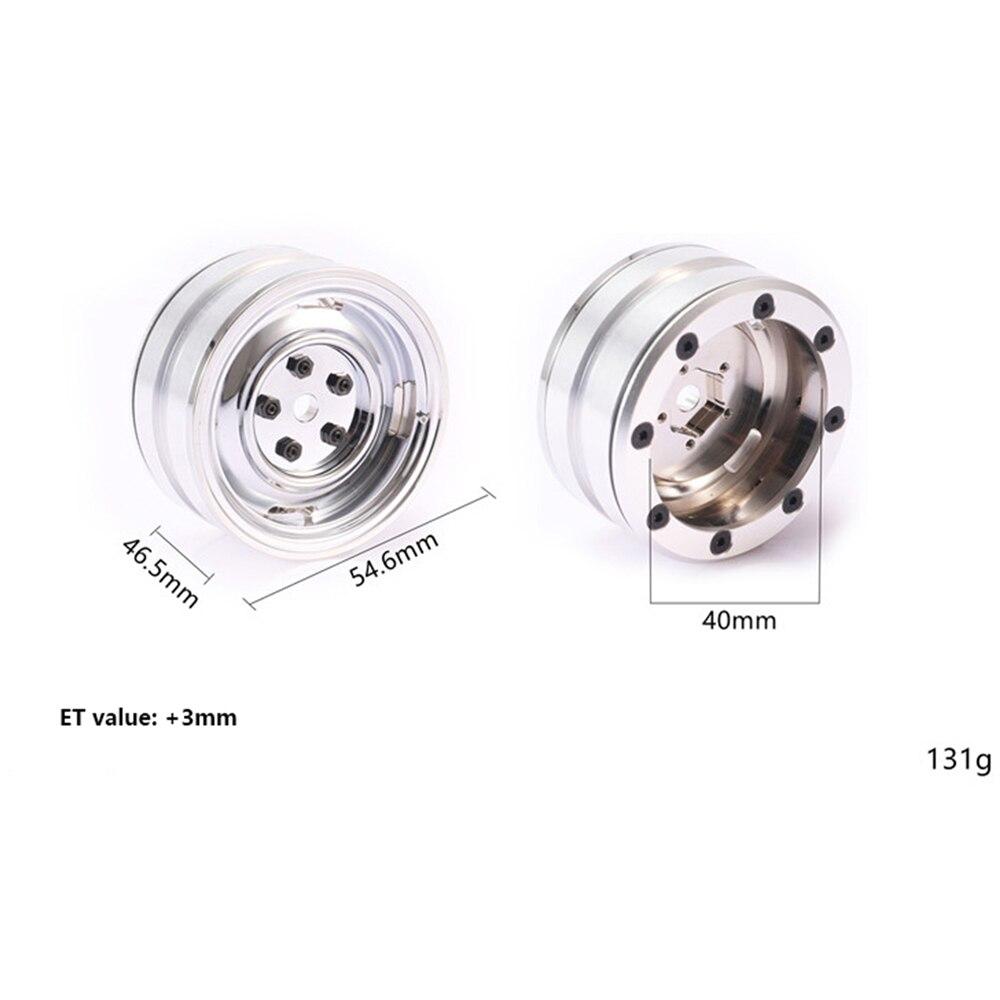 HOT SALE] 4pcs 1 9inch Metal Wheel Hub Wheel Rim for DJC RC4WD TF2