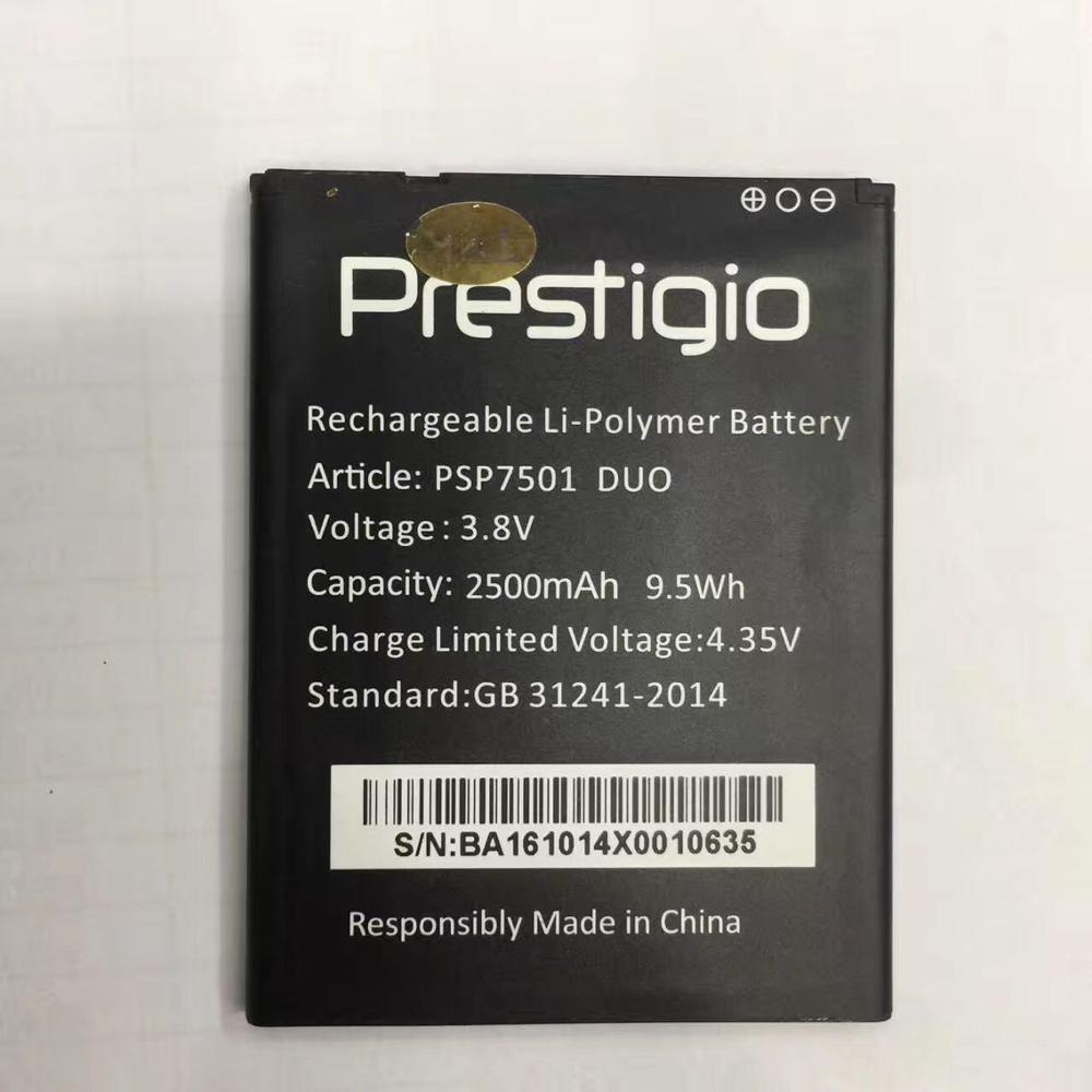 Novo Para psp7501 duo PSP7501 bBattery 100% Novo 2500 mah bateria de Substituição Para Prestigio duo telefone inteligente