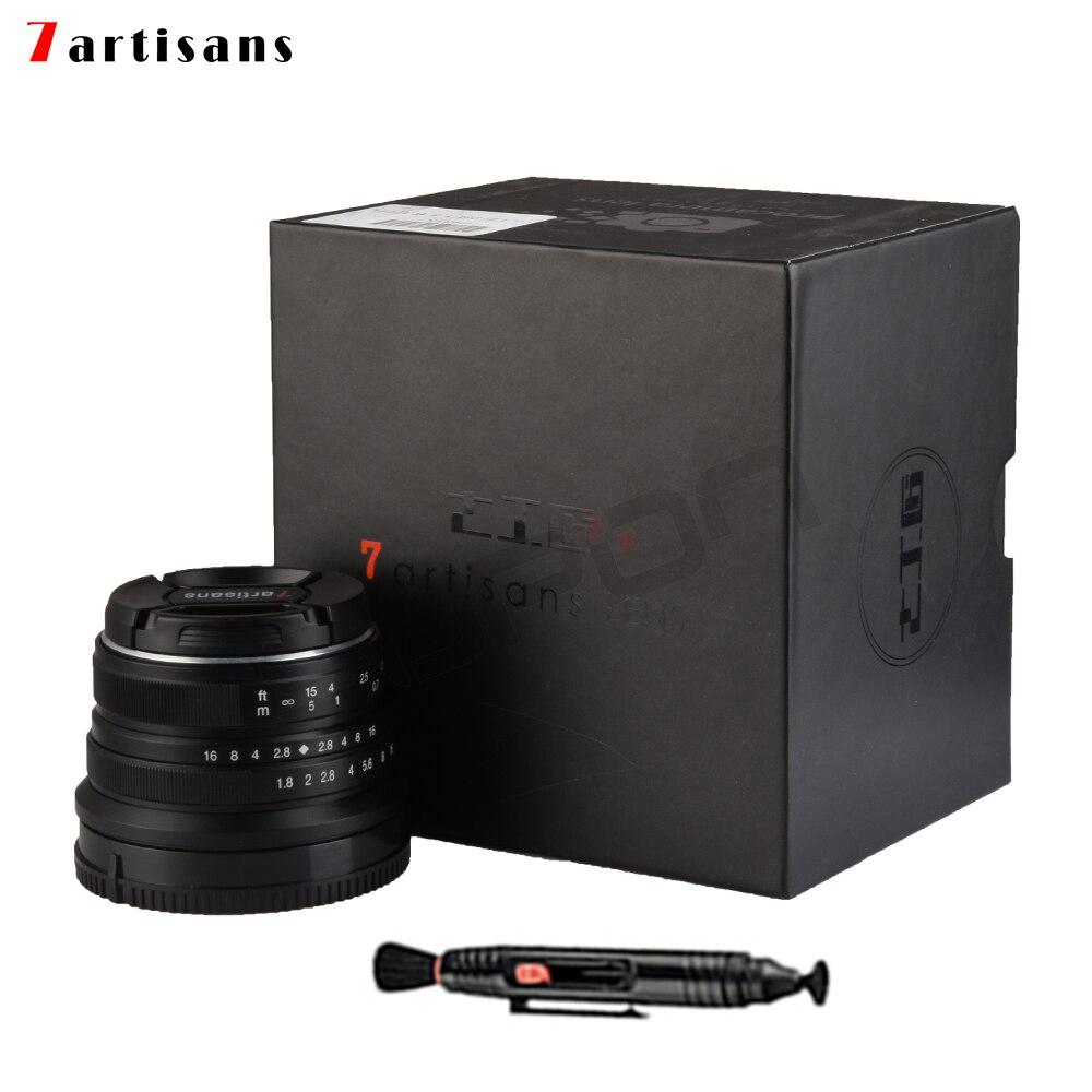 7 artisans 25mm/F1.8 Premier Objectif à Tous Unique Série pour Sony E Mont/Canon EOS-M Montage /Fuji FX Mont/M43 Panasonic Olympus