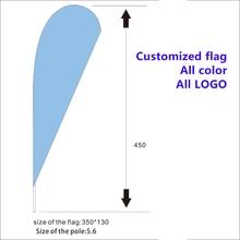 Custom 5.6mP Hanging SIMPLE MOBILE FLUTTER FLAG  Advertising Sign Feather Swooper Banner