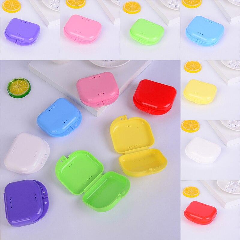 Denture Bath Storage Box Case Dental False Teeth Appliance Container Storage Boxes Dentures Cleaner Levert Dropship