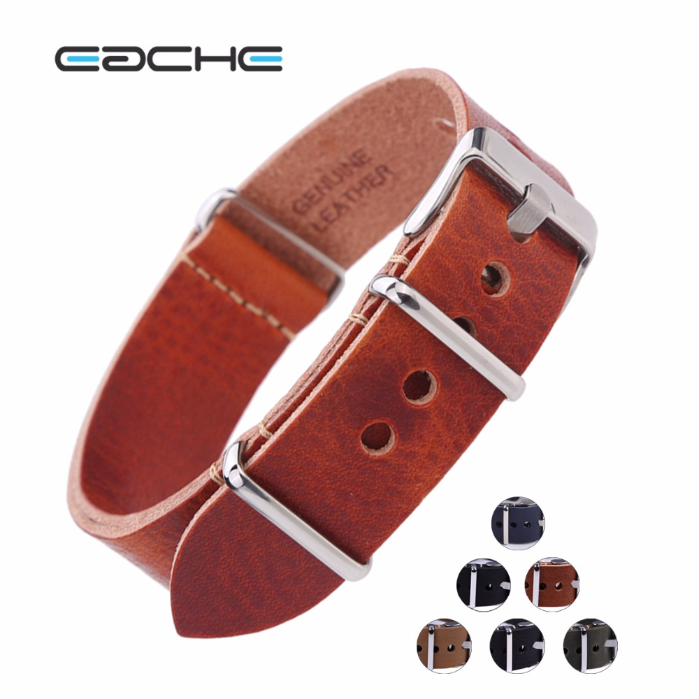 EACHE Vintage Genuine Leather Watchband Nato Leather Watch Straps More color&Size 20mm 22mm 24mm Wholesales