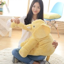 40cm/60cm elephant Height Large Plush Doll Toy Kids Sleeping Back Cushion Cute Stuffed pillow Baby Accompany Doll Gift