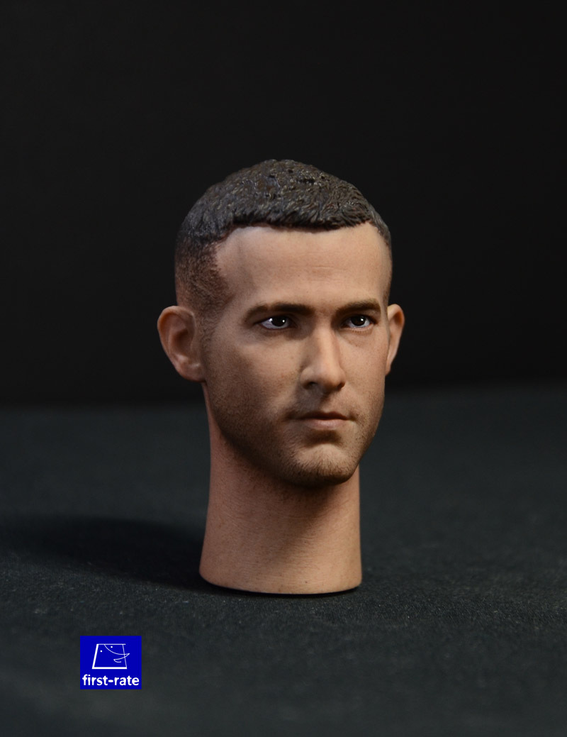 1:6 scale male Figure accessories Ryan Reynolds Wade Winston Wilson Deadpool head shape carved for 12 Action figure doll ryan j nerve