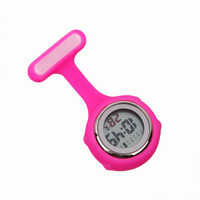 Digital Silicone Nurse Watch Fob Pocket Watch Doctor Nurse Gift Timepiece Brooch Lapel Clock Brand Date