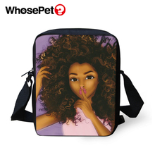 WHOSEPET Cross Body Messenger Bags African Girls Style Boys Shoulder Bag Cool School Fashion Women Mini Flap Postbag
