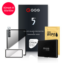 GGS Fifth Generation for CANON 5D III  5DS 5 King Kong screen camera film protection Metal frame embedded optical glass