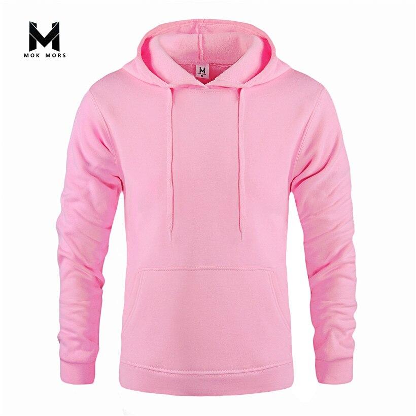 Sweatshirts Men Clothing Fleece Hoody Hooides Streetwear Hip-Hop Fashion-Color Winter