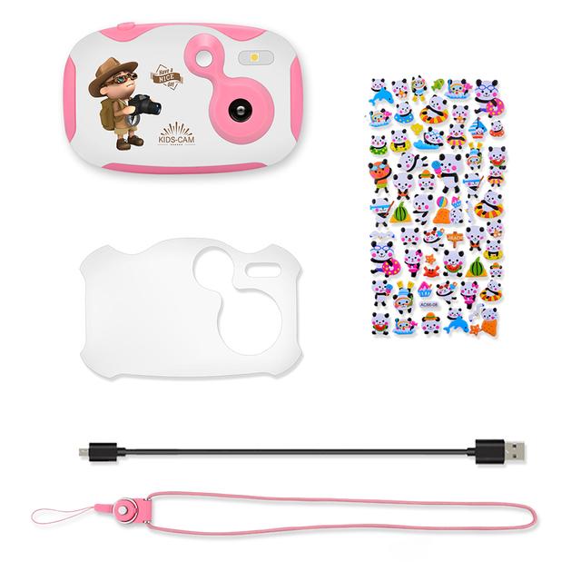 Amkov Mini Kids Digital Video Camera with Cartoon Stickers Festival Gift for Children Boys Girls Video Camera 2018 New