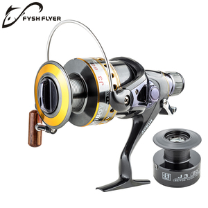 Image 4 - Fishing Reel Carp Spinning Reel J3FR Carbon Front and Rear Drags 18KG Drag 9+1 BB Metal Spool Double / Wooden Handles Available