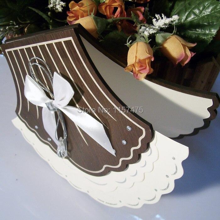 comprar hi fancy forma de abanico de madera tarjeta de invitacin de boda con la impresin de card protector fiable