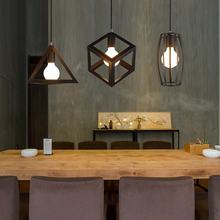 Edison Vintage Iron Black Pendant Lights Honest Industrial Wind Attic hanging lamp fixture Old - Fashioned Retro Luminaire Avize
