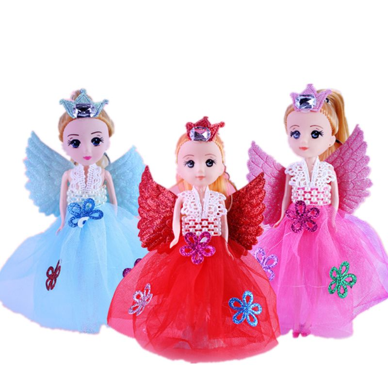OOTDTY 7 Glittering Angels Dolls With Wings Toy For Girls Toys Birthday Gift image