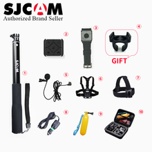 SJCAM Accessories Microphone +Remote control Monopod Chest Strap Belt Head Strap Mount Bag for M20 Sj6 Legend Sj7 Action Camera