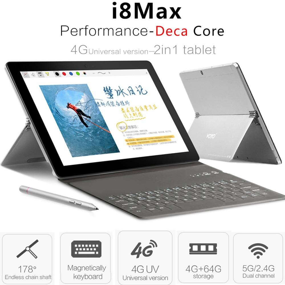 D'origine VOYO I8 Max LTE 4g Phablet Android 7.1 10.1 ''MTK6797 Deca Core 4 gb + 64 gb 13MP 4g Téléphone Appel Tablet PC OTG Double-SIM GPS